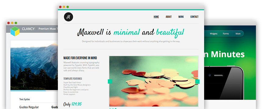 Adobe Muse SquareBox Slider Widget by MuseThemes